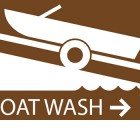 Five boat-wash stations