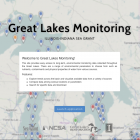 The home page of the Great Lakes Monitoring website.