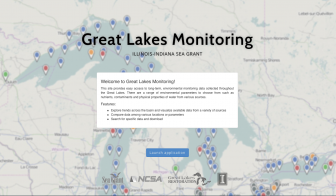 The home page of Great Lakes Monitoring