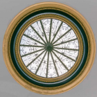 View of the oculus in the ceiling of the rotunda. Image: John F. Martin, Source: National Register of Historic Places nomination form