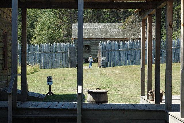 Grand Portage National Monument has reconstructed the fur trading depot from the 18th century. Researchers suspect a common trade item from that time might have left some contamination in the monument. Image: Joel Dinda/flickr