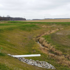 A two-stage ditch located in the Western Lake Erie region reduces the environmental impacts of the farm field. Image: The Nature Conservancy