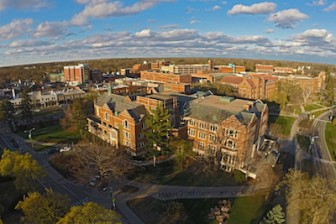 Aerial shot of MSU taken with drone. Image: Ryan Latourette of Grand Ledge