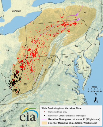 Marcellus shale gas play, Appalachian basin