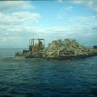 Artificial reef under construction in Lake Erie near Lorrain, Ohio. Image: Ohio Sea Grant