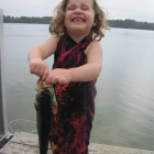 Largemouth bass are fun to catch, making them great for children new to fishing. Image: Jonathan Hansen