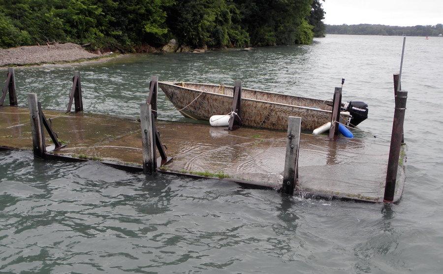 Heavy rains flood Lake Erie