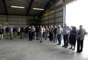 About 50 new tri-state partners met at Kris Swartz's Wood County farm recently to kick off the Tri-State Western Lake Erie Regional Conservation Partnership Program to reduce fertilizer run-off to Lake Erie. Image: Karen Schaefer