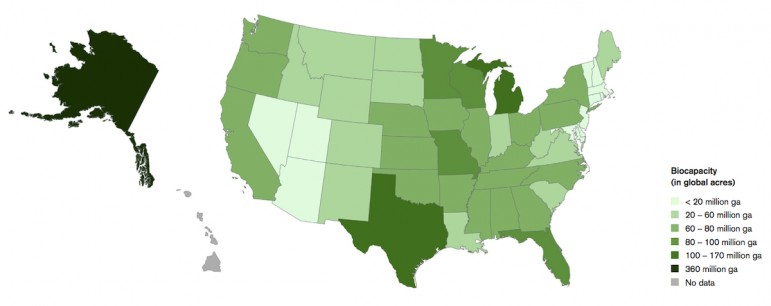 biocapacity varies widely by state