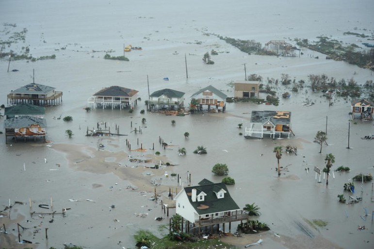 Galveston Island, Texas, after Hurricane Ike Sept. 13. (U.S. Air Force photo/Staff Sgt. James L. Harper Jr.)