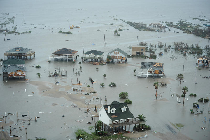 Galveston Island, Texas, after Hurricane Ike Sept. 13. (U.S. Air Force photo/Staff Sgt. James L. Harper Jr.)