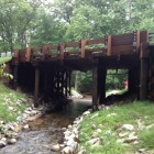 Bridge over Hinton Creek that replaced culvert in Huron-Manistee National Forests. Image: University of Notre Dame