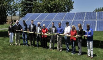 Cherryland Electric community solar dedication near Traverse City, Michigan. Photo: Cherryland Electric Cooperative
