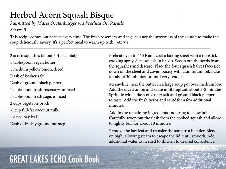 herbed acorn squash bisque