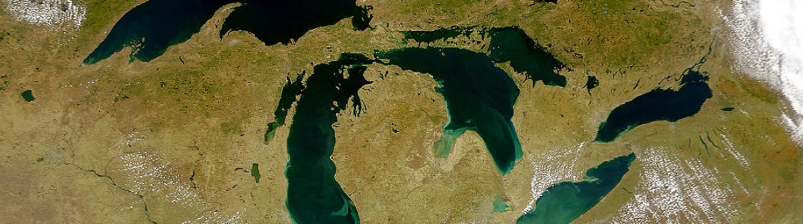 The Great Lakes are at risk for acidification as carbon emissions increase. Image: NASA