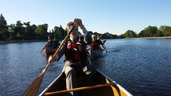 IJC staffers In Ottawa commute to work via canoe to raised money for Project WET Canada, an initiative of the Canadian Water Resources Association.