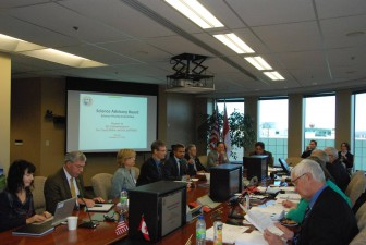 The International Joint Commission meets with its Science Priority Committee in Ottawa. Image: Jeff Kart
