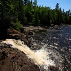 Waterfall near Todd Harbor at Isle Royale National Park. Image: Ray Dumas