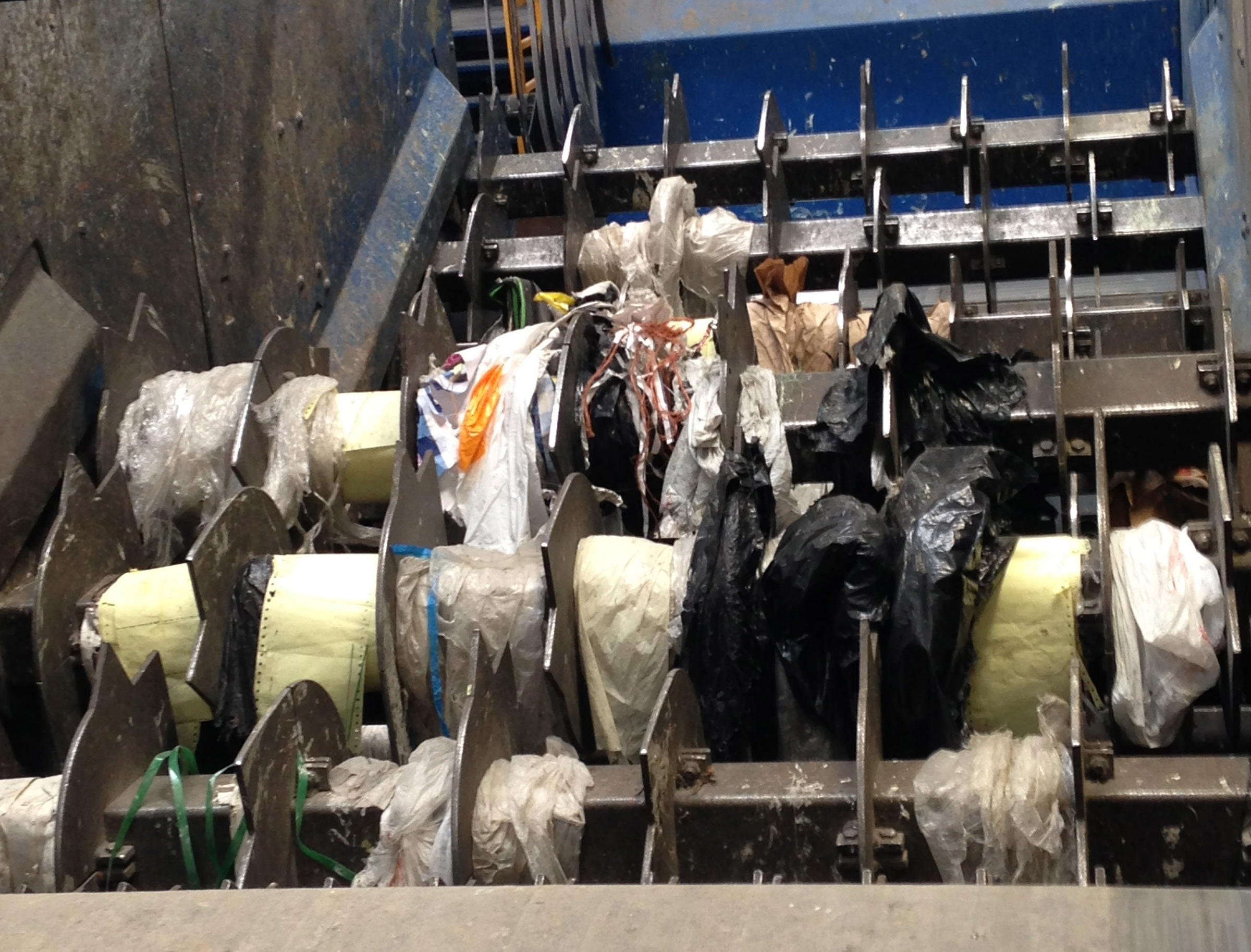 Plastics contamination at the Western Washtenaw Recycling Authority in Chelsea, MI. Image: Noelle Bowman.