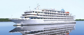 The Pearl Mist sails the Great Lakes bringing tourists to popular port cities. Image:pearlseascruises.com