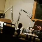 Dr. Marc Edwards (left) with Current State host Mark Bashore. Image: Amanda Pinckney, WKAR.