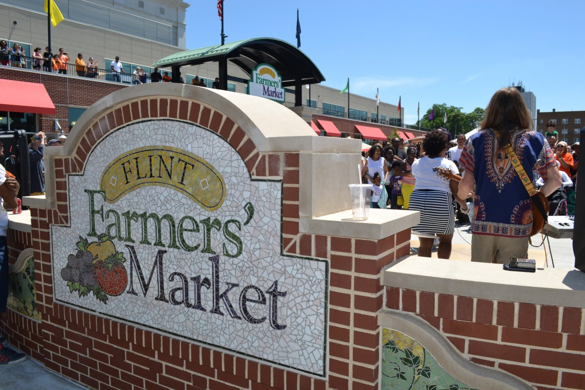 Flint Farmers' Market. Herman and others say the public needs to look beyond the water crisis at new development in the city. Image: Michigan Municipal League, Flickr.