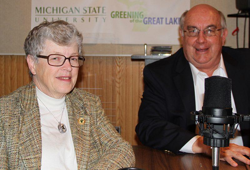 Lou Anna K. Simon and Kirk Heinze.