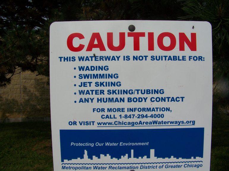 Sanitary ship canal sign