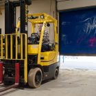 Hayes Manufacturing installed a quick-closing loading bay door to save energy. Image: Gary Howe for Midwest Energy News