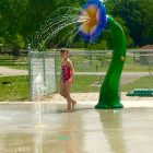 A youngster plays at the new spray park at Ohio's Grand Lake St. Mary's State Park. Image: Ohio Department of Natural Resources