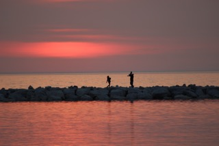 Lake Michigan sunset near Petoskey, Michigan. Image: Kelly van Frankenhuyzen