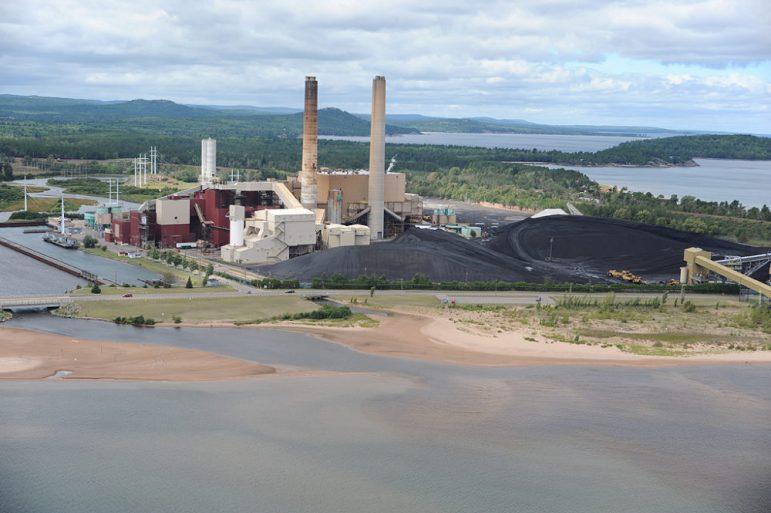 Presque Isle power plant near Marquette, Michigan.