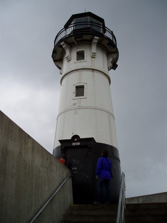The Duluth Harbor South Breakwater Outer Light was built in 1901 to help ships navigating Duluth's shipping canal. Image: U.S. Coast Guard