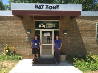 The front of Bat Zone, Philip Garofalo left, and Rob Mies right. Image: Eamon Devlin