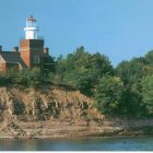 The Big Bay Lighthouse from Lake Superior. Image: Big Bay Lighthouse Bed & Breakfast