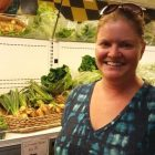Flint grocery store owner Erin Caudell is helping to launch the new Flint Fresh initiative. Image: Kevin Lavery, WKAR.