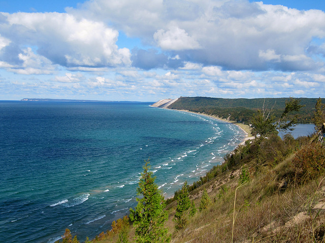 A view of Lake Michigan near the Sleeping Bear Dunes. Image: Rachel Kramer (Flickr)