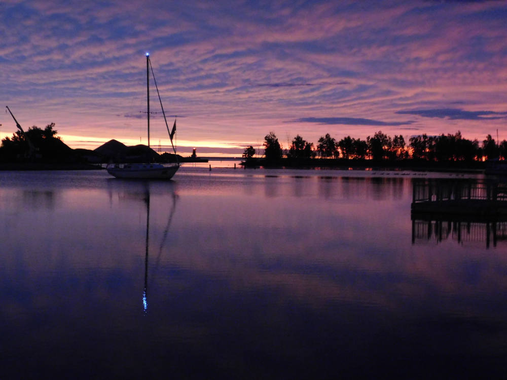 Sunrise on the Menominee River. Image: Environmental Health News.