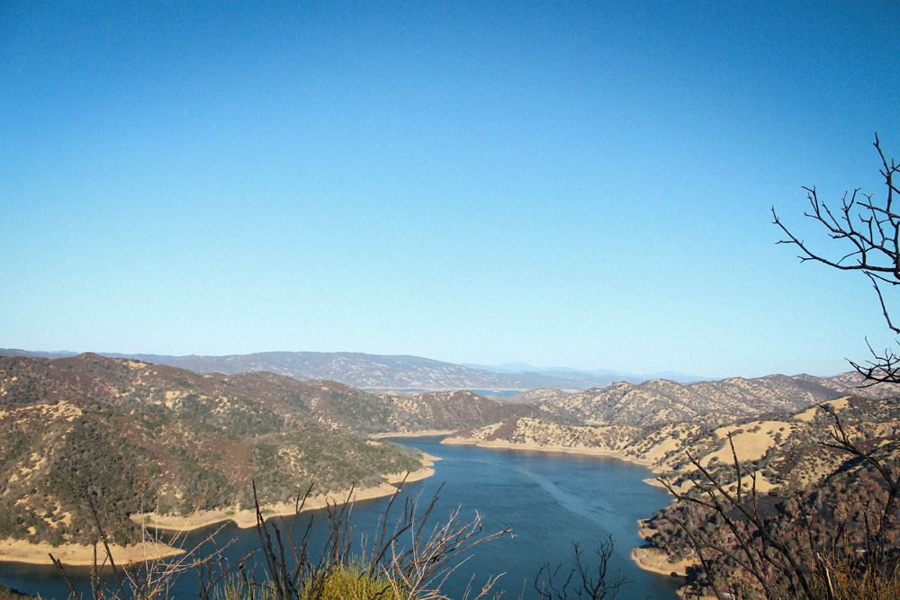 The view of Lake Berryessa from the peak of our hike. Image: Marie Orttenburger.