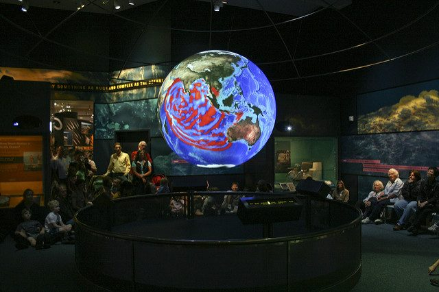 Science on a Sphere at the Smithsonian National Museum of Natural History. Image: Woddleywonderworks on Flickr