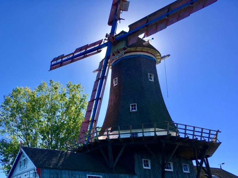 The windmill is the focus of many new park projects. While still in need of repairs, the owners are considering its potential for a flour mill, gathering area or even a source of clean energy. Image: Megan McDonnell