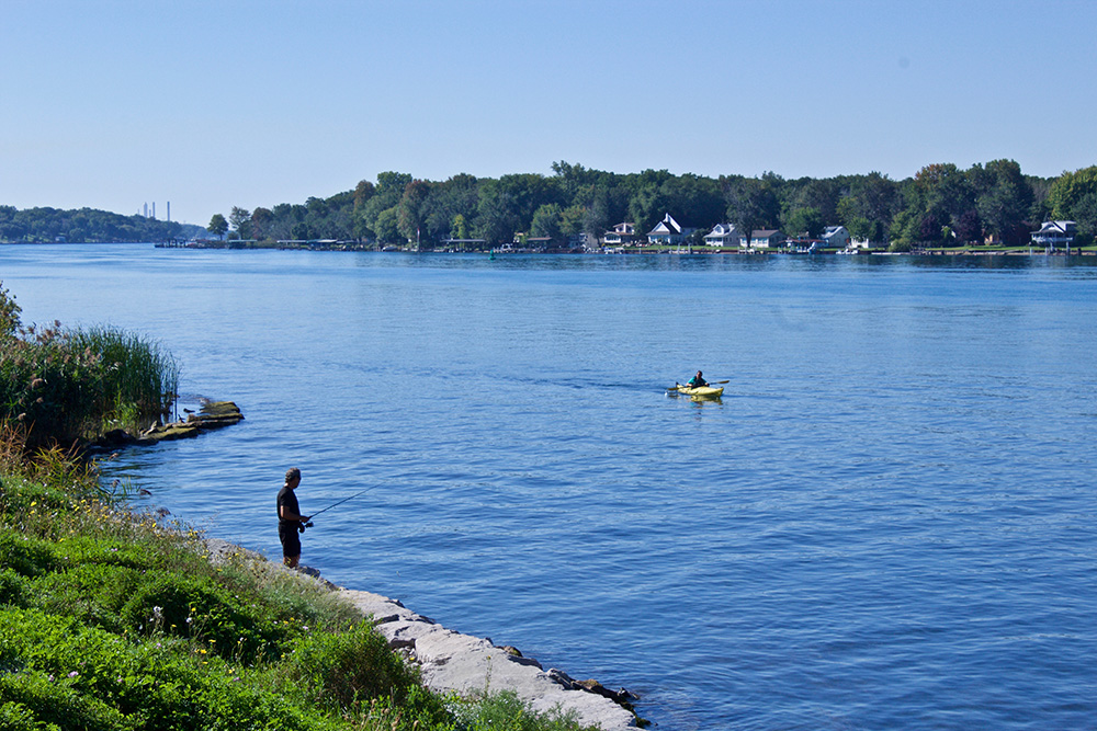 Restoration projects have made it possible for safe water recreational use in the Sarnia region of the St. Clair River. Image: Megan McDonnell