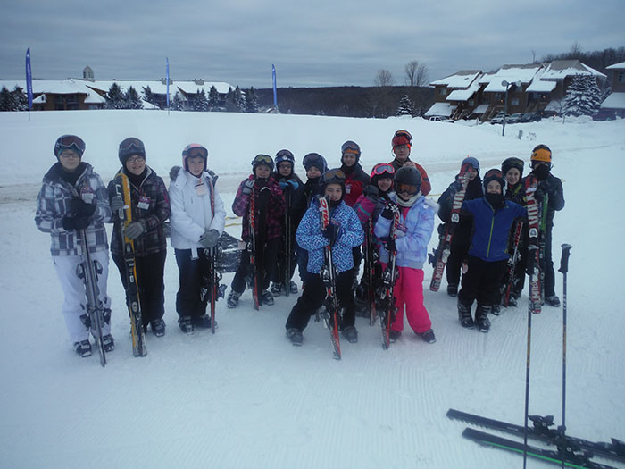 The 4-H group takes an annual ski trip to Shanty Creek of about 40 kids to ski Schuss Mountain. Image: Theresa Whitenight